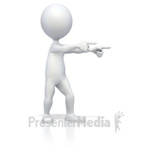 ID# 2845 - Stick Figure Double Point - Presentation Clipart