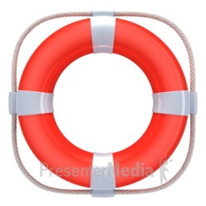 ID# 2851 - Red Life Buoy - Presentation Clipart
