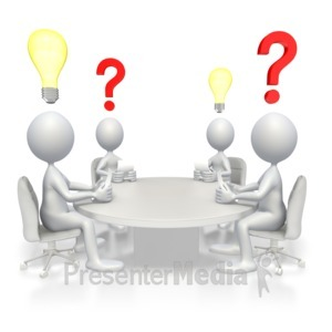 ID# 2915 - Conference Brainstorming - Presentation Clipart