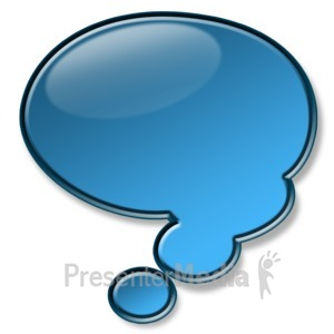 ID# 2936 - Shiny Blue Conversation Bubble - Presentation Clipart