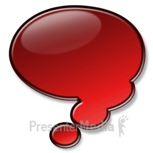ID# 2937 - Shiny Red Conversation Bubble - Presentation Clipart