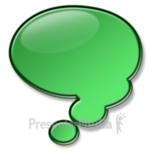 ID# 2942 - Shiny Green Conversation Bubble - Presentation Clipart