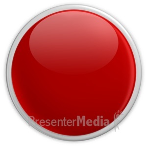 ID# 2951 - Badge Blank Button Red - Presentation Clipart