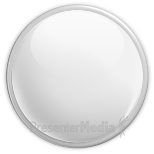 ID# 2959 - Badge Blank Button White - Presentation Clipart