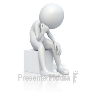 ID# 2990 - Stick Figure Bummed Out - Presentation Clipart