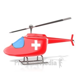 ID# 3019 - Medical Helicopter - Presentation Clipart