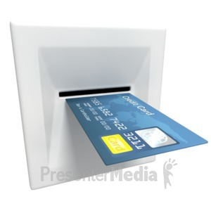 ID# 3020 - Insert Credit Card Atm Machine - Presentation Clipart