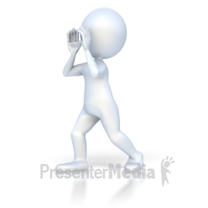 ID# 3057 - Stick Figure Shout - Presentation Clipart
