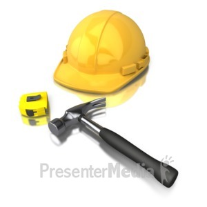 ID# 3064 - Construction Worker Tools - Presentation Clipart