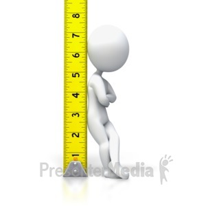 ID# 3081 - Tape Measure Stick Figure - Presentation Clipart