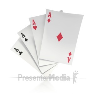 ID# 3095 - Four Aces - Presentation Clipart