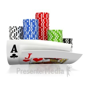 ID# 3105 - All In Black Jack Gamble - Presentation Clipart