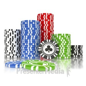 ID# 3106 - Poker Chip Pile  - Presentation Clipart