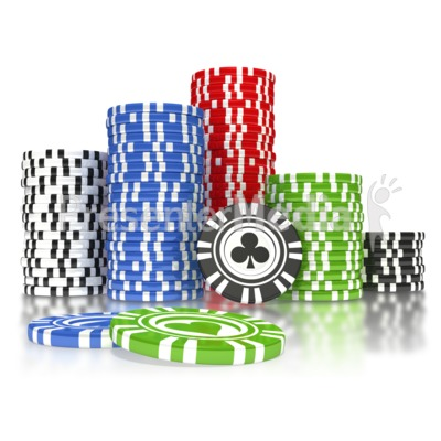 poker chip pile - sports and recreation - great clipart for