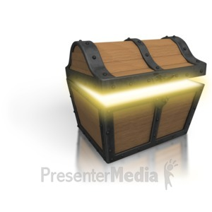 ID# 3108 - Treasure Chest Open Glow - Presentation Clipart