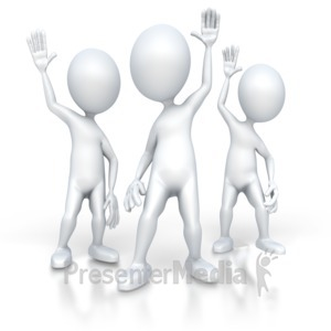 ID# 3122 - Group of People With Questions - Presentation Clipart