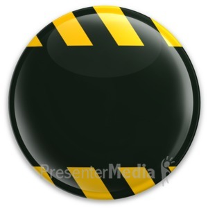 ID# 3125 - Black Button Caution Construction - Presentation Clipart
