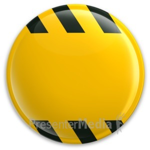 ID# 3126 - Yellow Button Caution Construction - Presentation Clipart