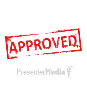 ID# 3157 - Approved Rubber Stamp - Presentation Clipart
