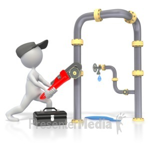 ID# 3234 - Plumber Plumbing Pipes  - Presentation Clipart