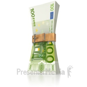 ID# 3282 - Euro Money Squeeze  - Presentation Clipart