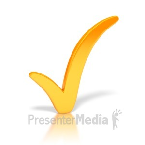ID# 3294 - Check Mark Orange - Presentation Clipart
