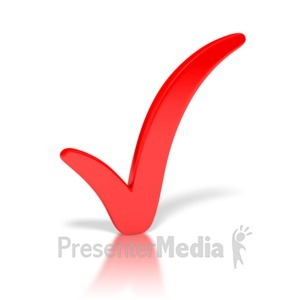 ID# 3295 - Check Mark Red - Presentation Clipart