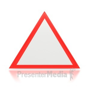 ID# 3307 - Hazard Sign - Presentation Clipart