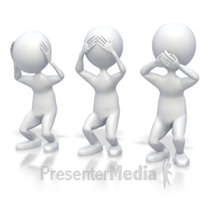 ID# 3340 - Hear See and Speak No Evil  - Presentation Clipart
