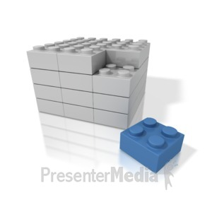 ID# 3371 - Building Blocks Stack - Presentation Clipart