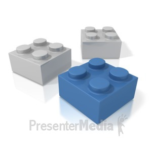 ID# 3393 - Three Building Blocks - Presentation Clipart