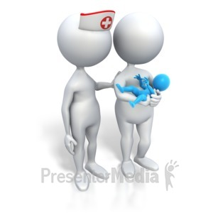 ID# 3450 - Mom And Nurse Its A Boy - Presentation Clipart