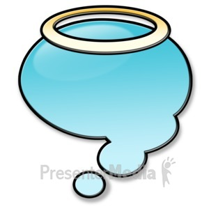 ID# 3457 - Angel Think Bubble - Presentation Clipart
