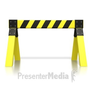 ID# 3462 - Caution Saw Horse  - Presentation Clipart
