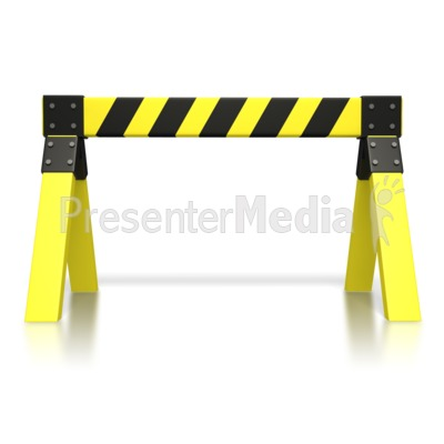 Caution Saw Horse  PowerPoint Clip Art