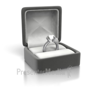 ID# 3479 - Diamond Ring White Gold - Silver - Presentation Clipart