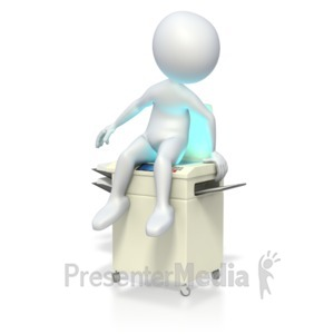 ID# 3481 - Stick Figure Sitting on Scanner - Presentation Clipart