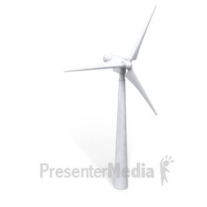 ID# 3487 - Single Wind Turbine - Presentation Clipart