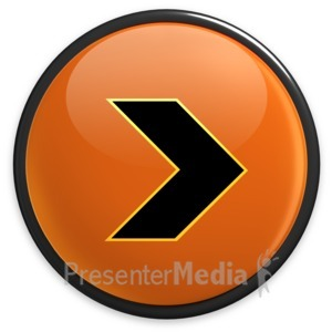 ID# 3492 - Arrow Orange Right Button - Presentation Clipart