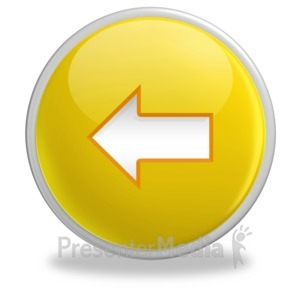 ID# 3512 - Glossy Yellow Button Arrow Left - Presentation Clipart