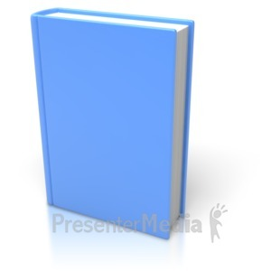 ID# 3540 - Blue Book Standing Upright - Presentation Clipart