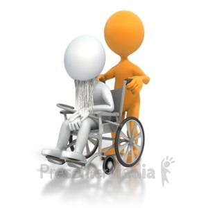 ID# 3603 - Old Person Wheelchair - Presentation Clipart