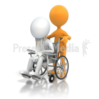 Old Person Wheelchair PowerPoint Clip Art