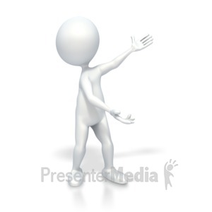 ID# 3614 - Stick Figure Highlight Something - Presentation Clipart