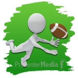 ID# 3651 - Stick Figure Football Icon - Presentation Clipart