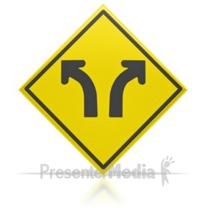 ID# 3679 - Direction Arrow Sign  - Presentation Clipart