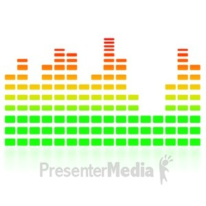 ID# 3702 - Music Equalizer Graph - Presentation Clipart