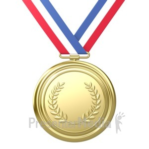 ID# 3719 - Gold Medal Award First Place - Presentation Clipart