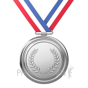 ID# 3720 - Silver Medal Award Second Place - Presentation Clipart