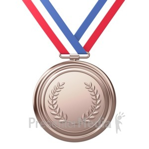 ID# 3721 - Bronze Medal Award Third Place - Presentation Clipart